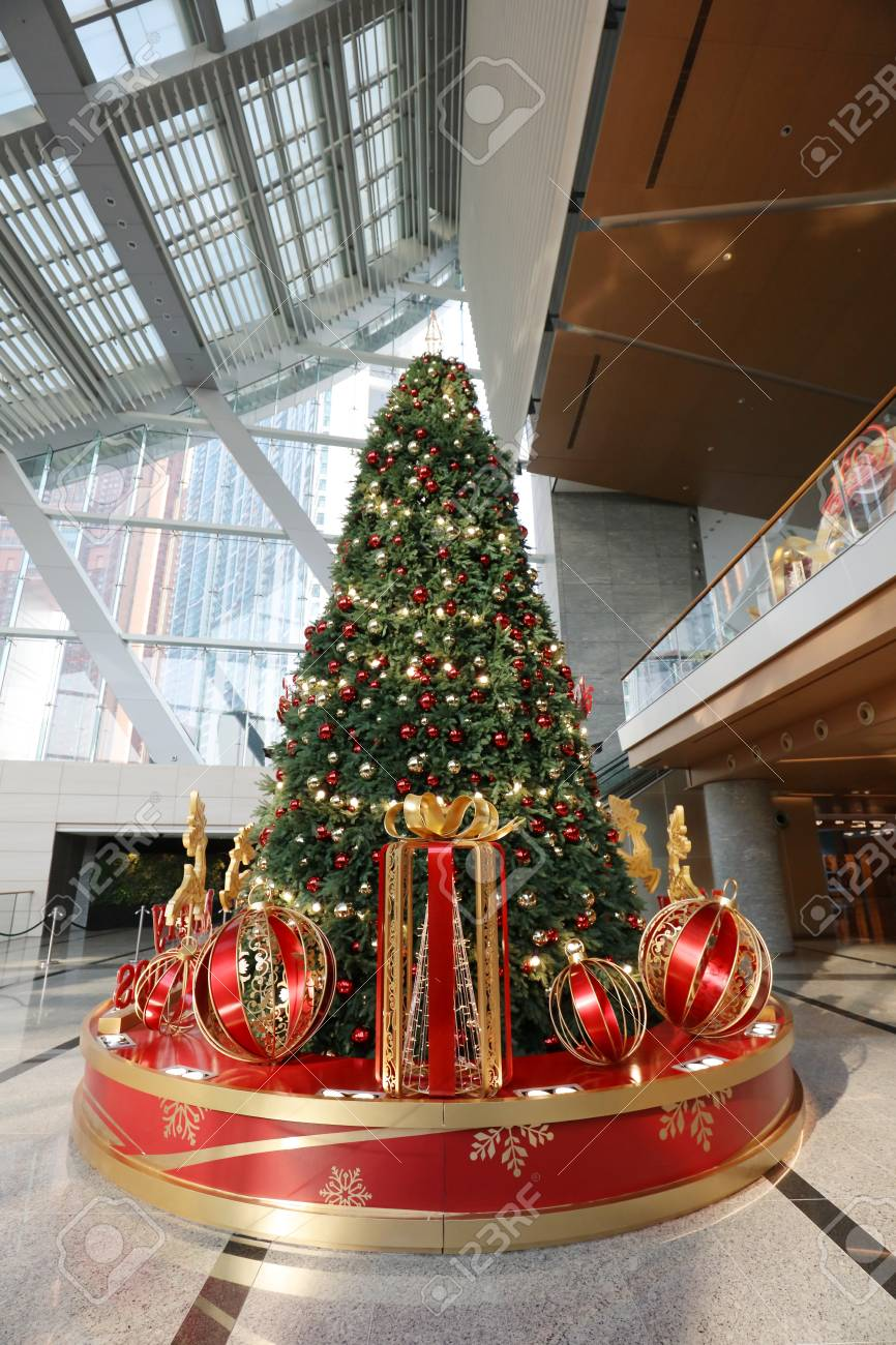 The Christmas Decorations At The Shopping Mall