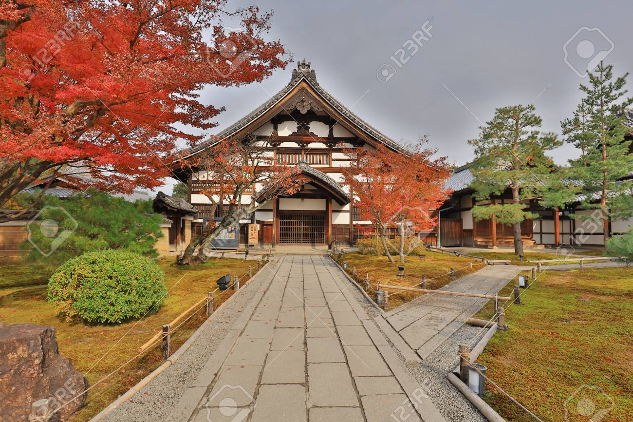 A Main Gate Of HE ZEN Garden Of Chion Stock Photo, Picture And ...