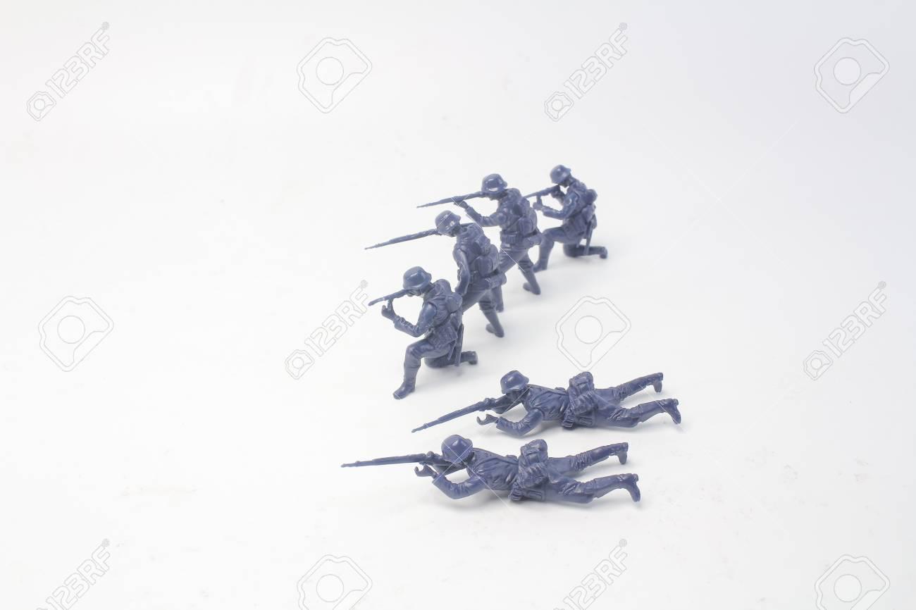 the fun of mini figure soldier at display - 110439406