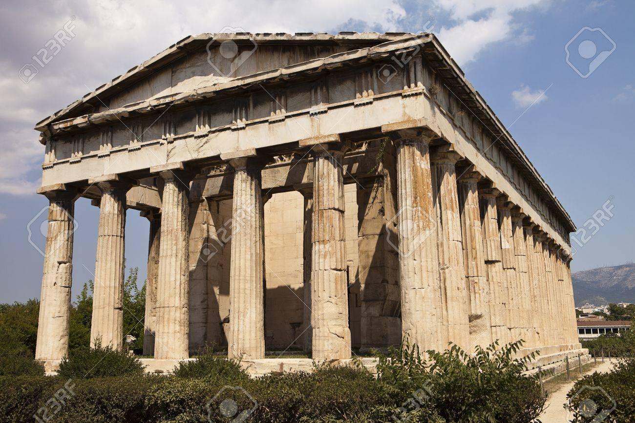 Stock Photo The Temple Of Hephaestus In The Agora Park In Athens