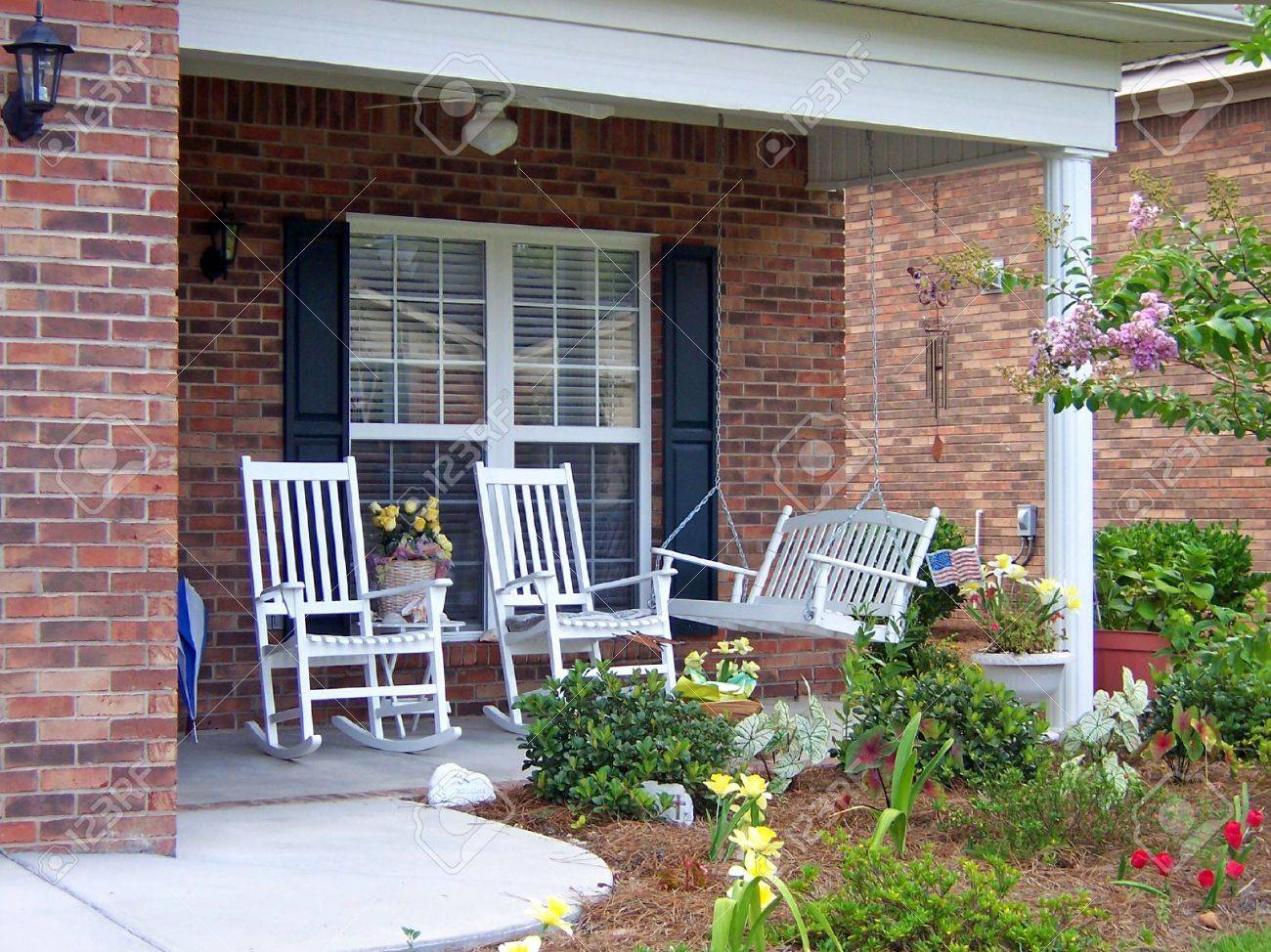 a beautiful southern carolina outside front porch Stock Photo - 1342126