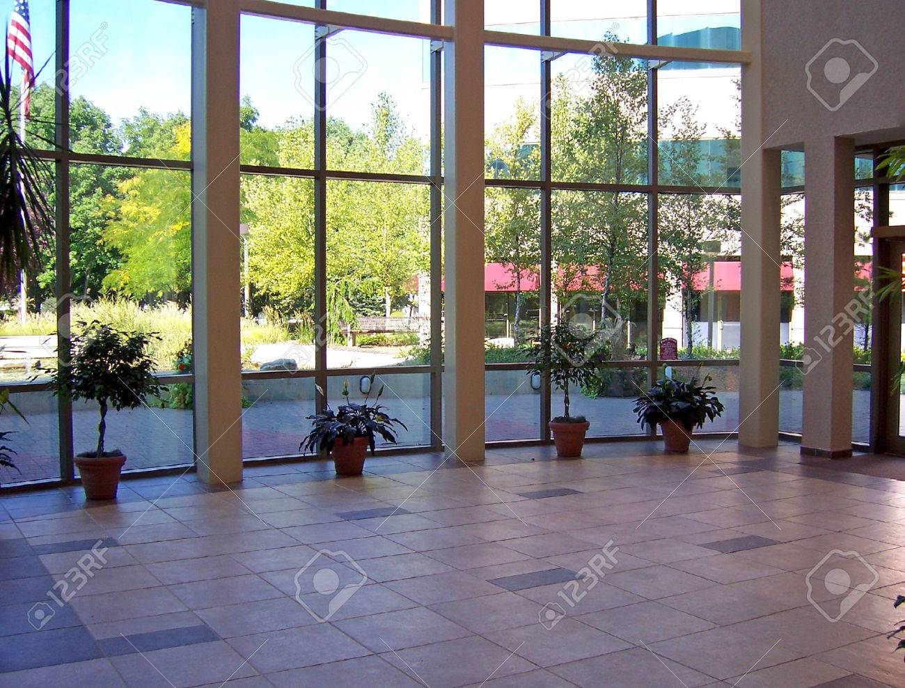 interior view of lobby with beautiful windows Stock Photo - 1719182