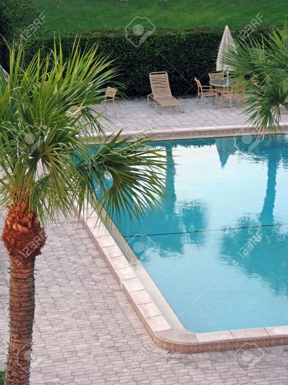 an empty swimming pool at condo complex Stock Photo - 2413039