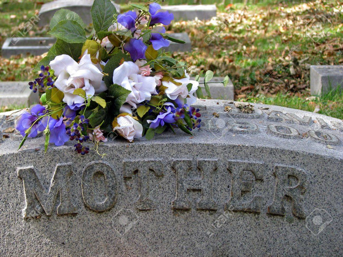 Silk flowers on a cemetery grave headstone mother stock photo silk flowers on a cemetery grave headstone mother stock photo 3721598 mightylinksfo