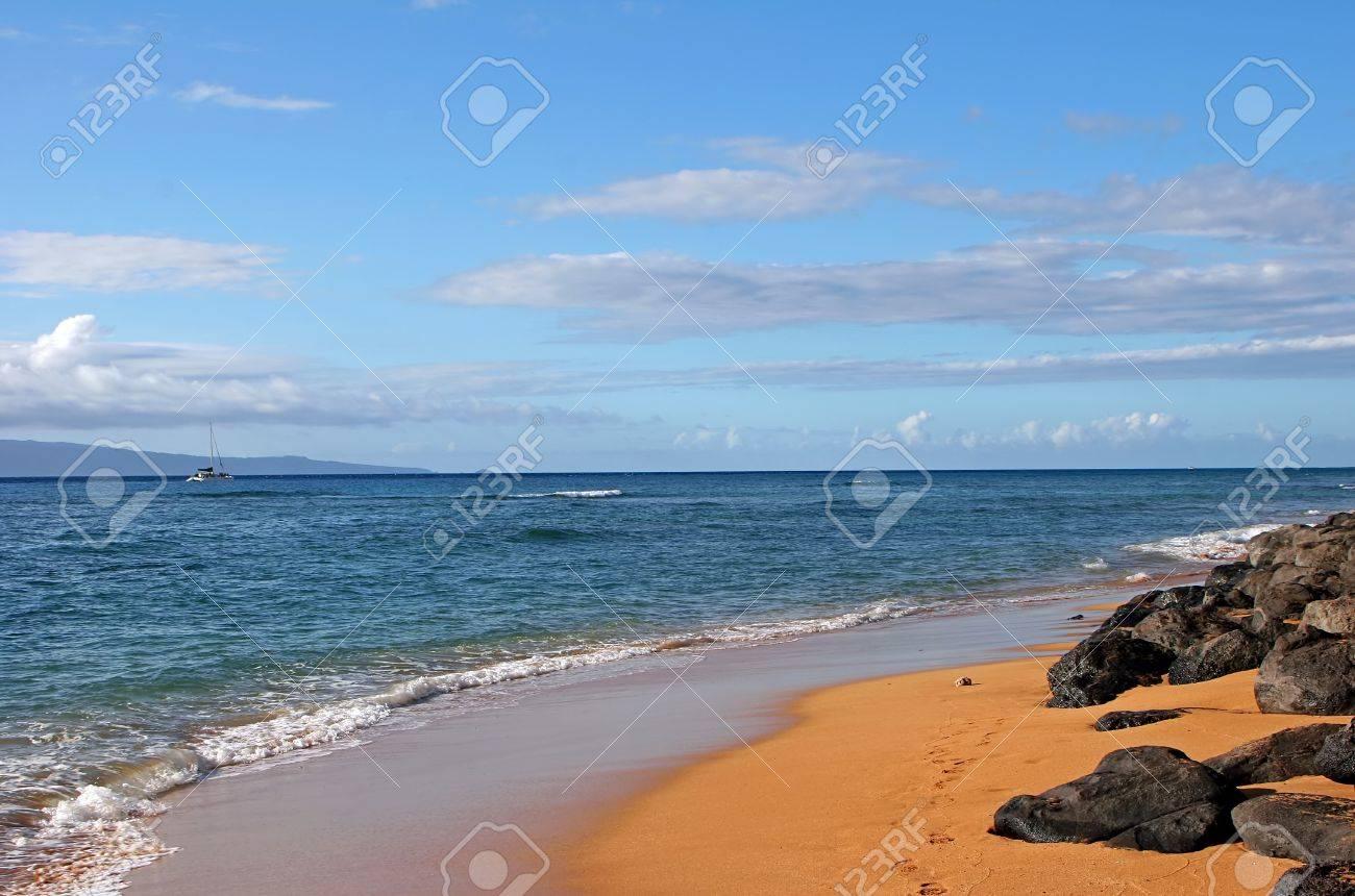 e18c61977e Beautiful Tropical Shoreline Landscape Maui Island Hawaii Stock Photo -  11204346