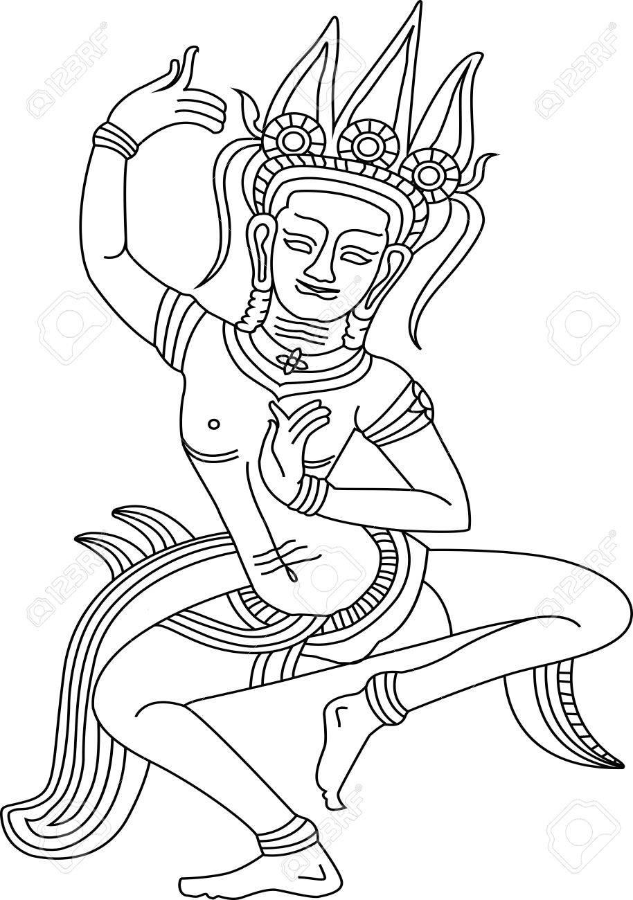 Khmer Dancing Apsara in Siem Reap province of Cambodia, - 11000033