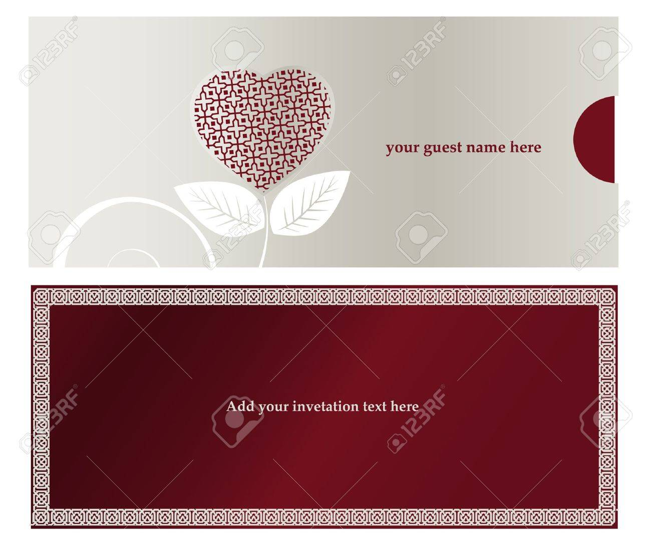 Invitation card for Wedding  or engaged party. Stock Vector - 7864672