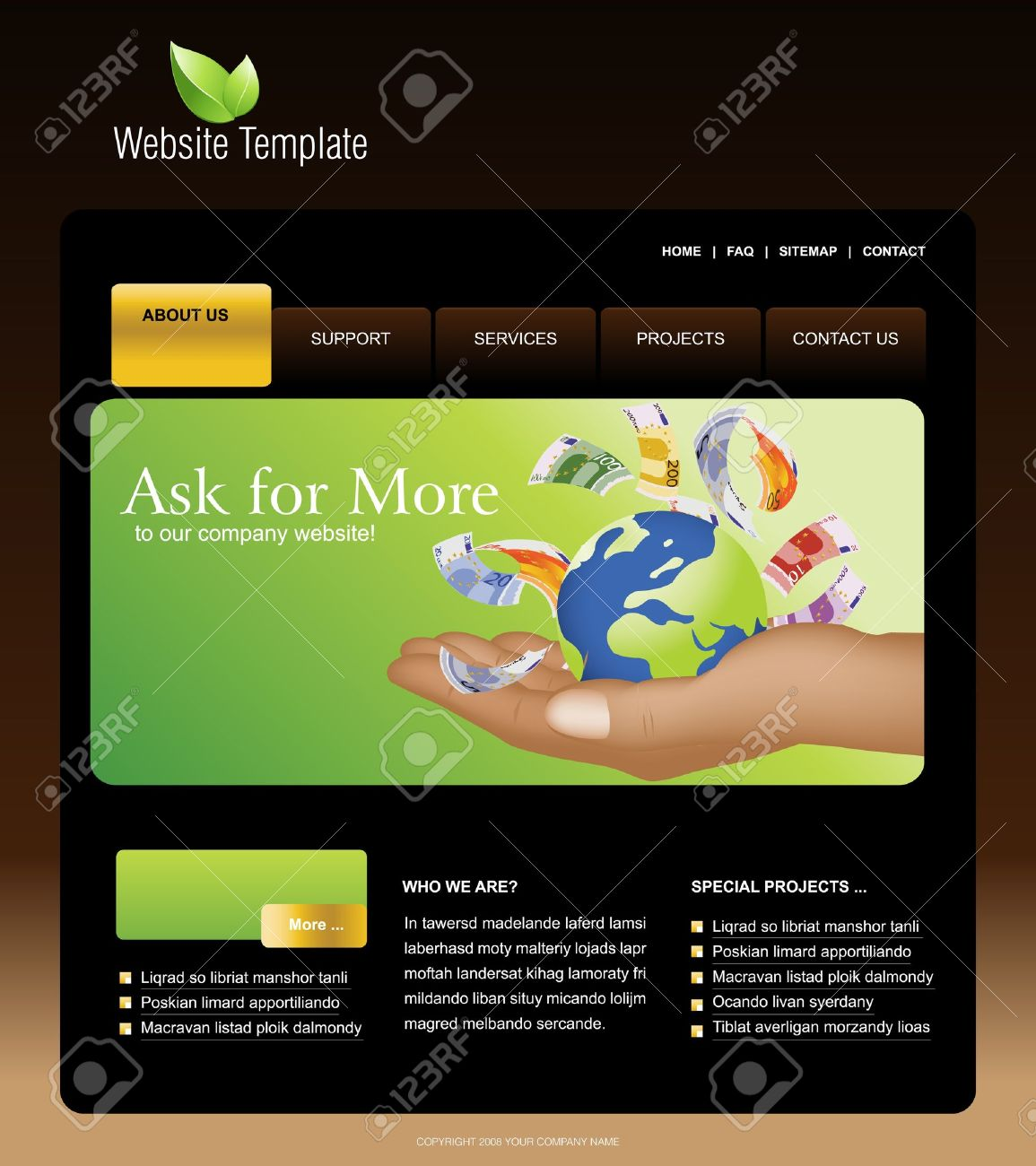 Website Template Royalty Free Cliparts, Vectors, And Stock ...
