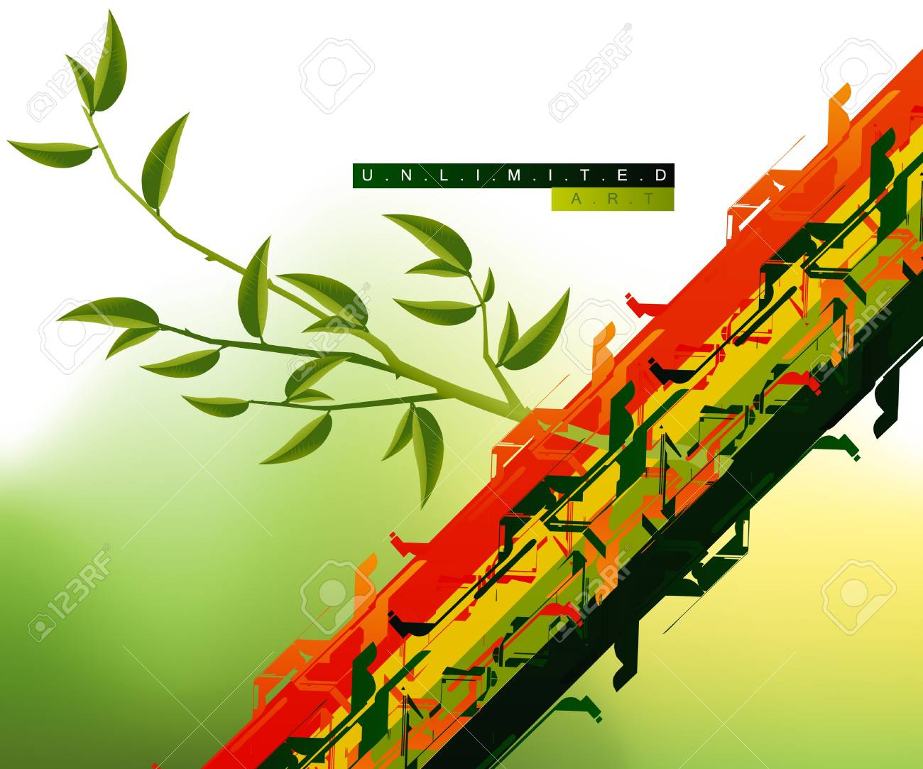 Colorful and stylish abstract background . Stock Vector - 7866474