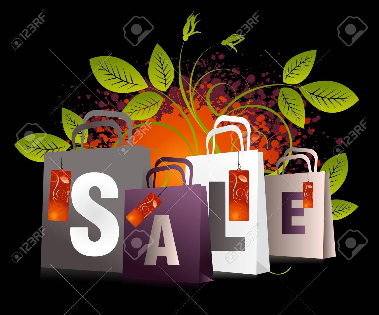 Sales and discount concept Illustration Stock Vector - 7866616