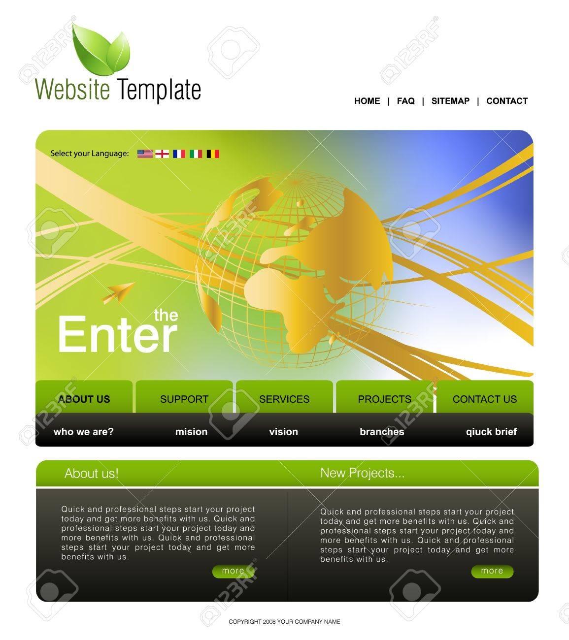 Website Template Stock Vector - 7866563