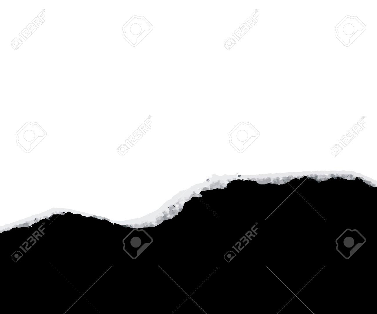 torn paper revealing black... Stock Vector - 7866736