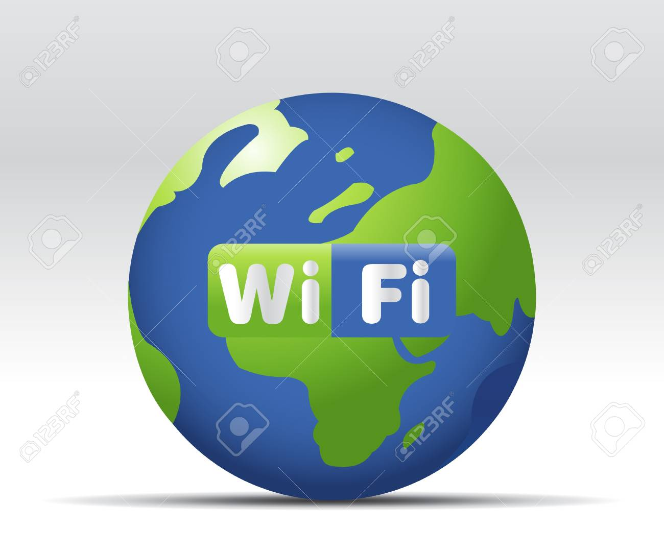 simple illustration for wifi web button or icon Stock Vector - 7866650