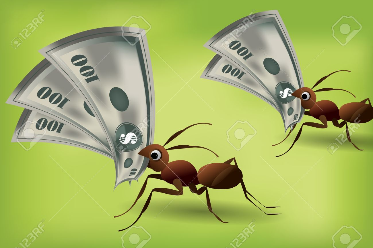 Team Work Spirit Set Of Ants Working Together Royalty Free