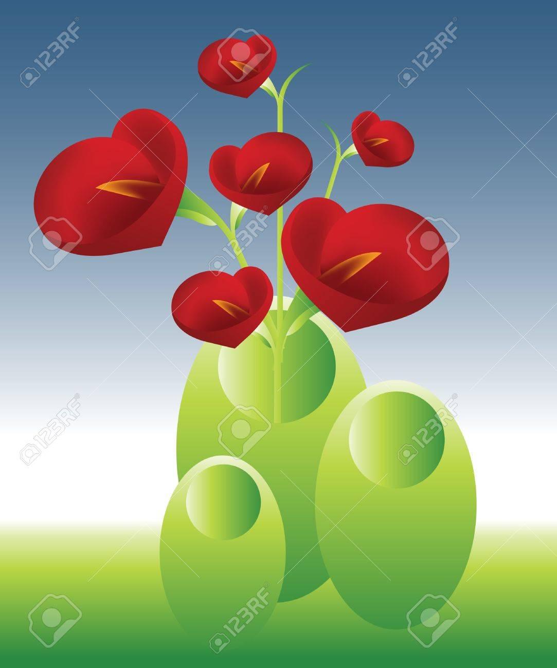 flores en jarrones de naturales foto de archivo