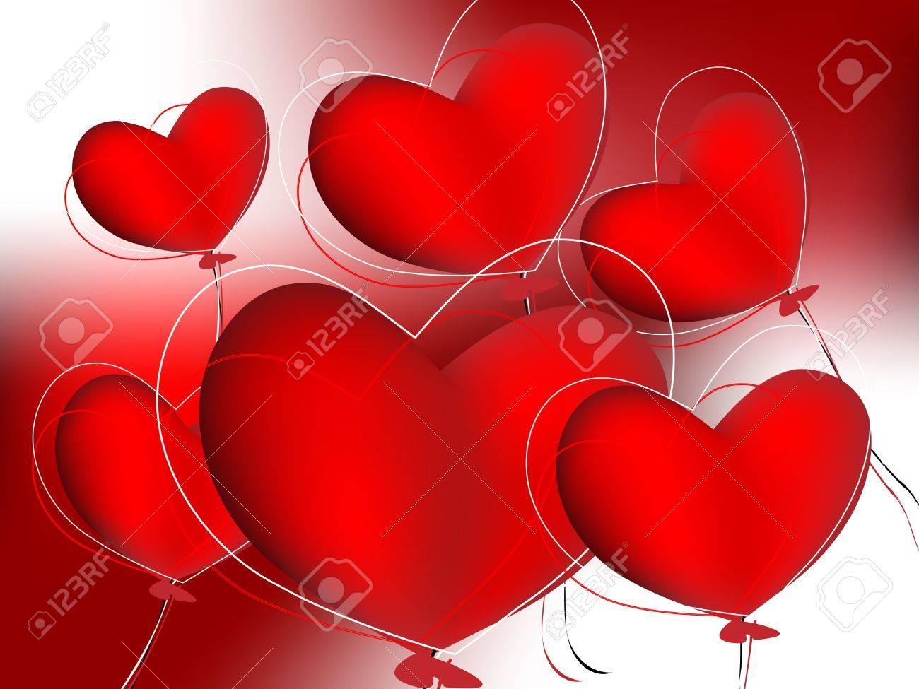 Creative Illustration ,  for valentine day . Stock Vector - 8298438