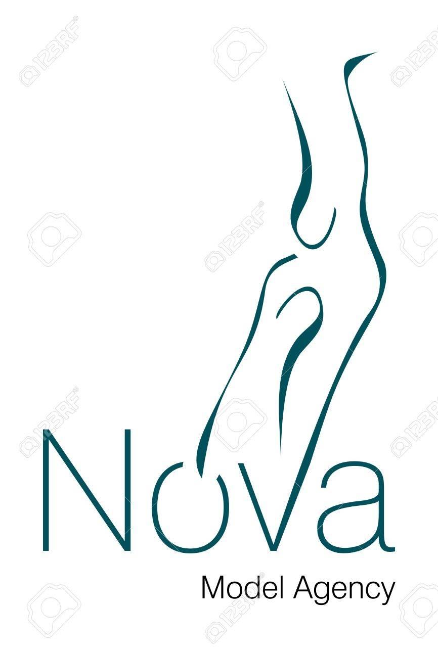 Logo Design for Model Agency. Stock Vector - 8299741