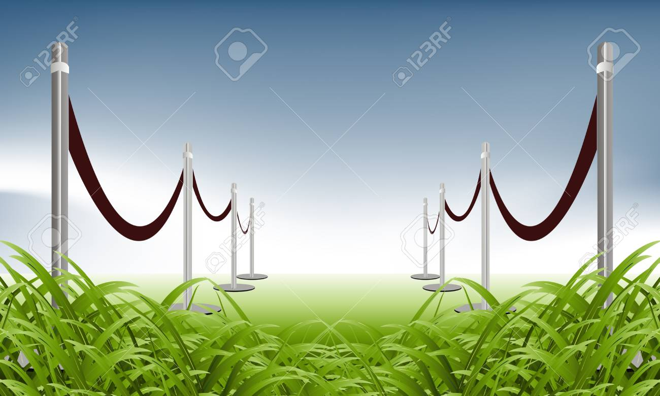 illustration of green carpet on natural background Stock Vector - 8300211