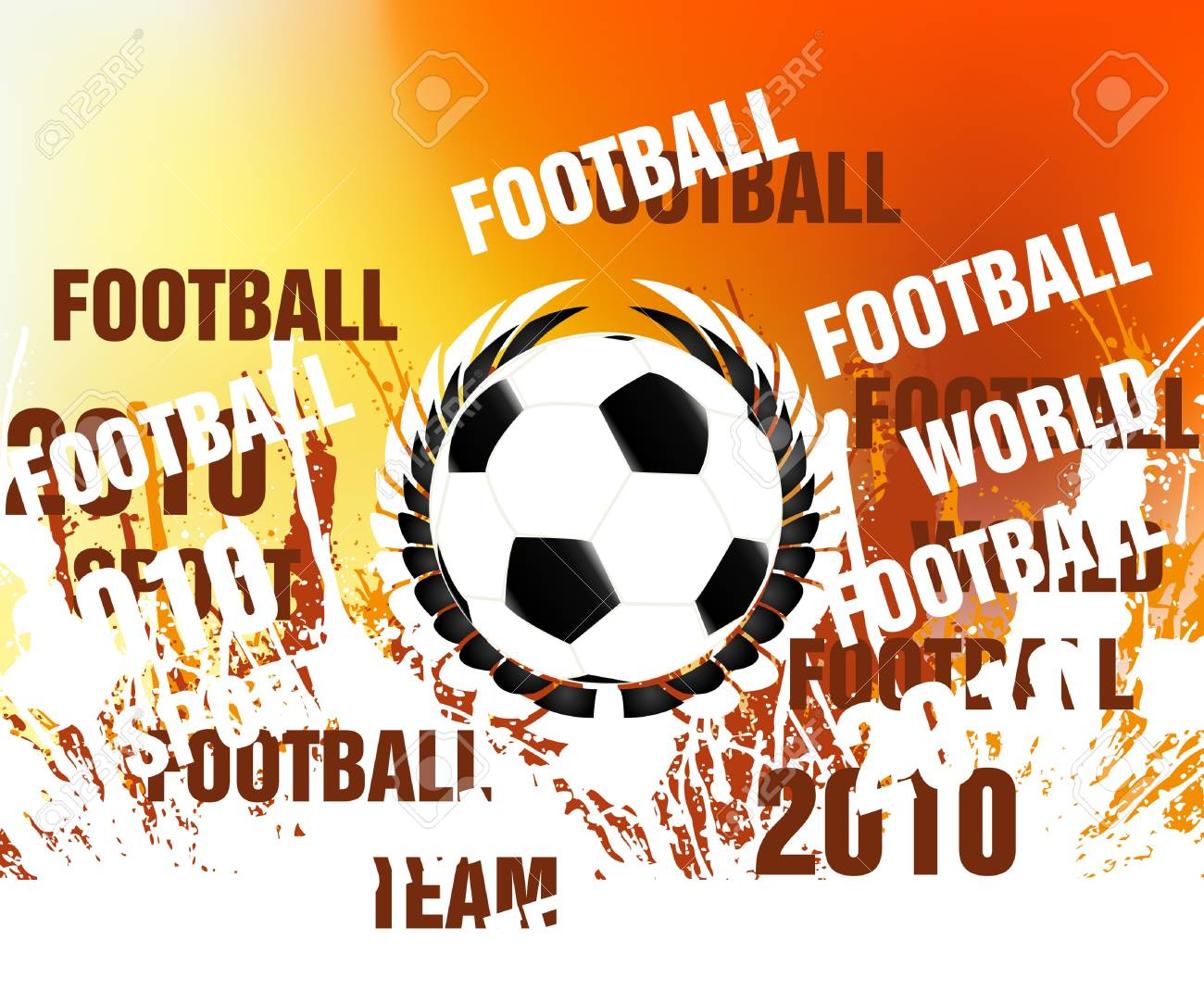 football concept illustration background. Stock Vector - 8300342
