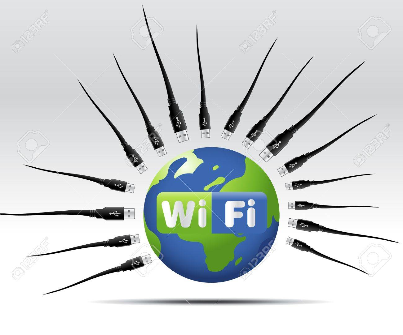 simple illustration for wifi web button or icon Stock Vector - 8299980