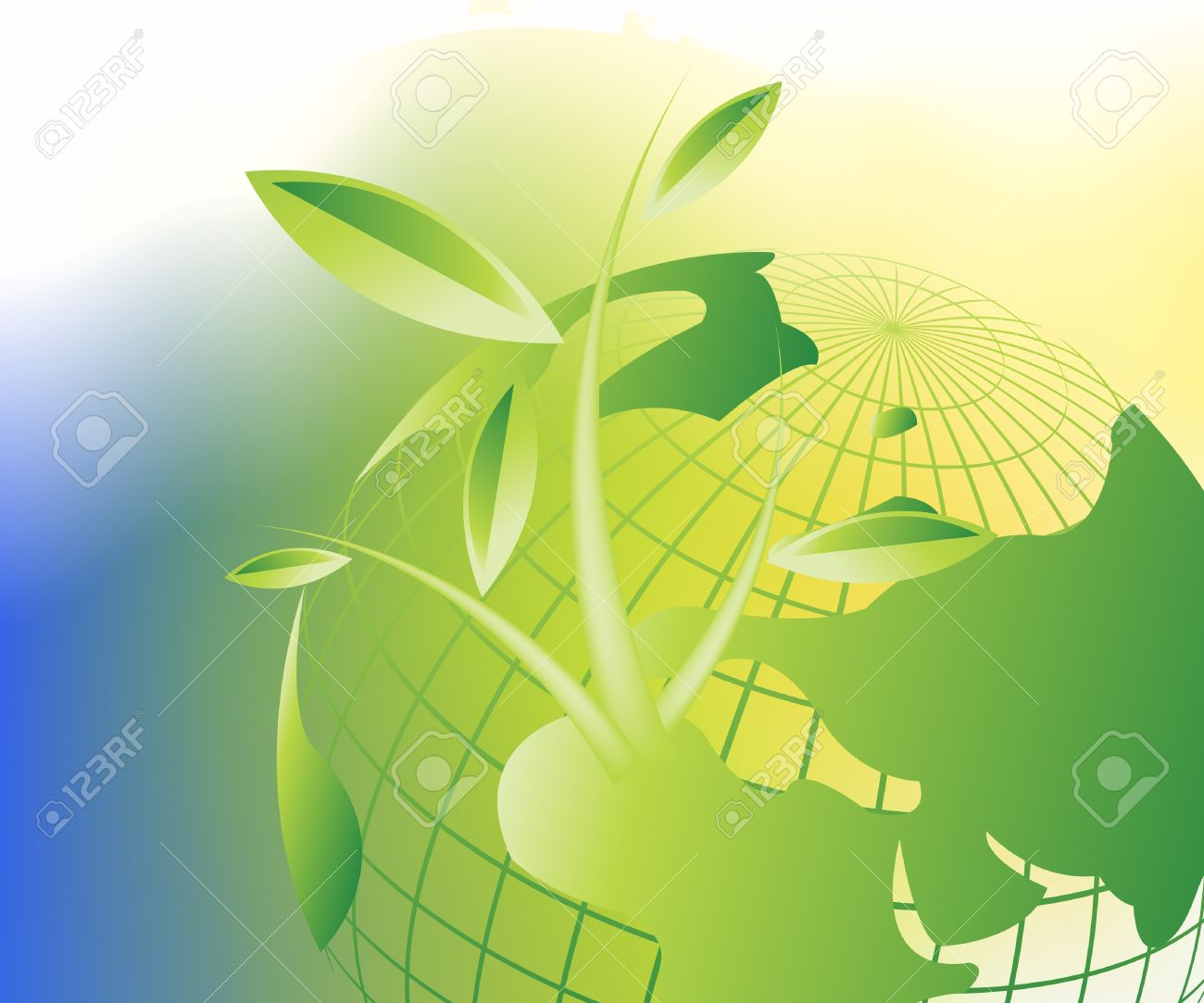 Plant Growth Background, theme of growth  . Stock Vector - 8300056