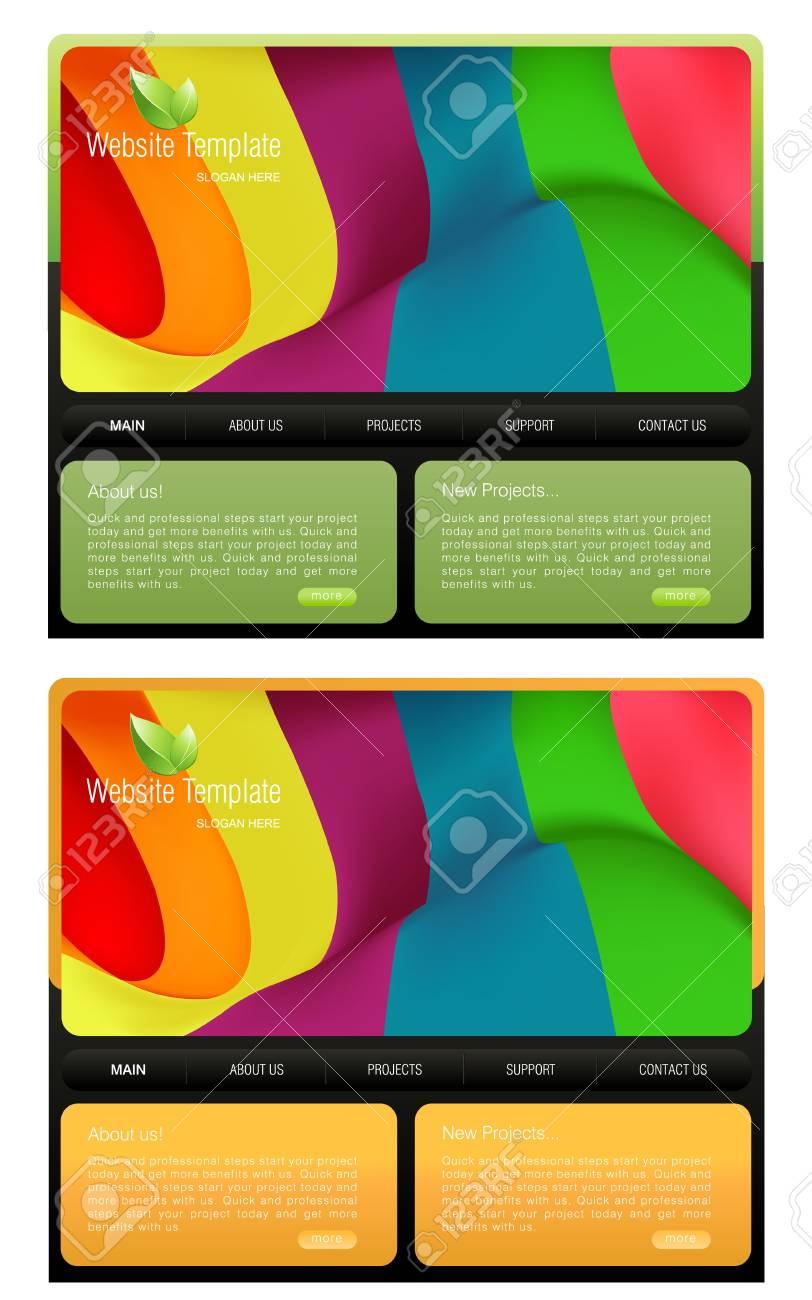 Website Template Stock Vector - 8297768