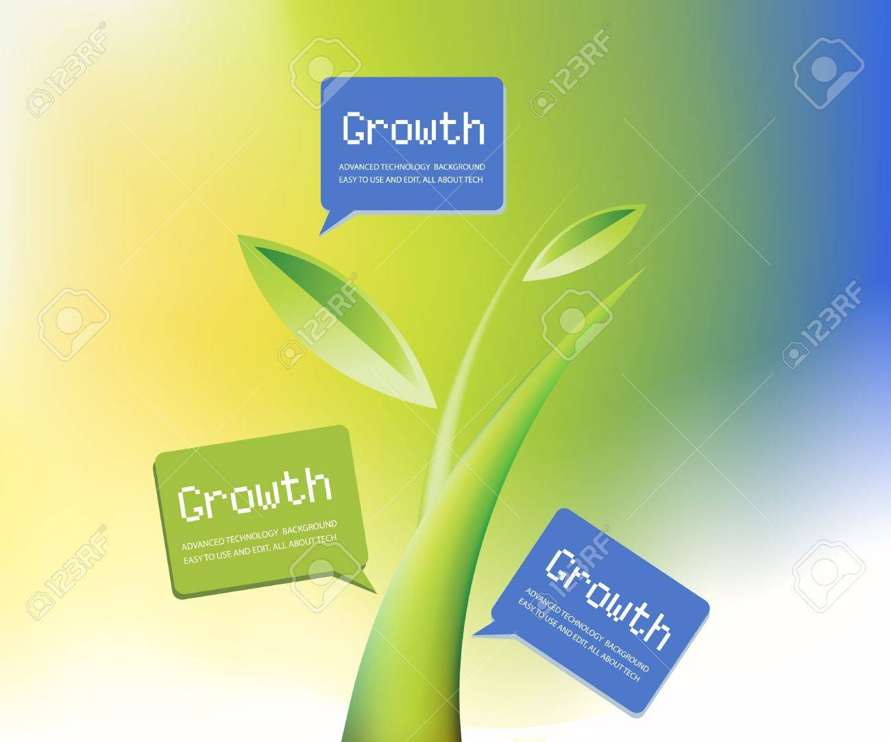 Plant Growth Background, theme of growth  . Stock Vector - 8298081