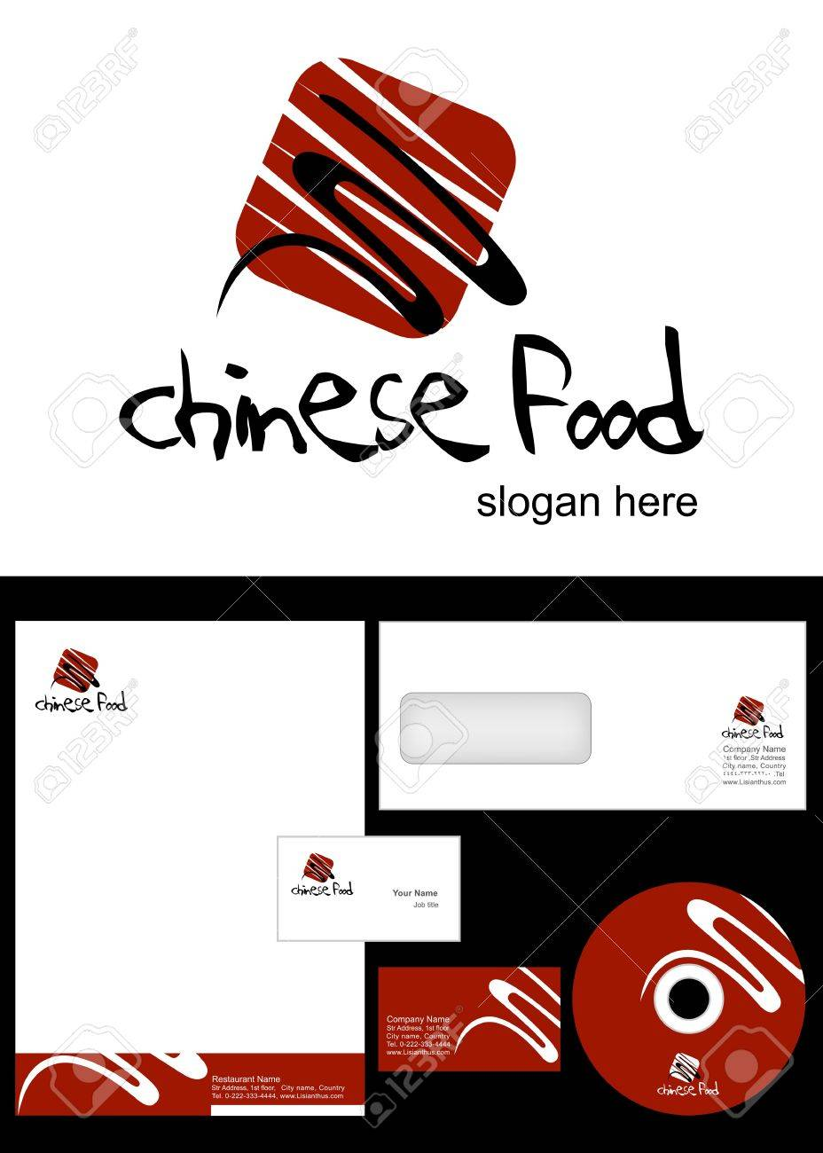 Chinese Food Logo Design And Corporate Identity Package Including Royalty Free Cliparts Vectors And Stock Illustration Image 12959765