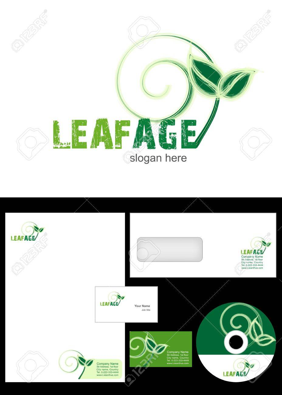 Leafage logo design and corporate identity package including leafage logo design and corporate identity package including logo letterhead business card envelope reheart Choice Image