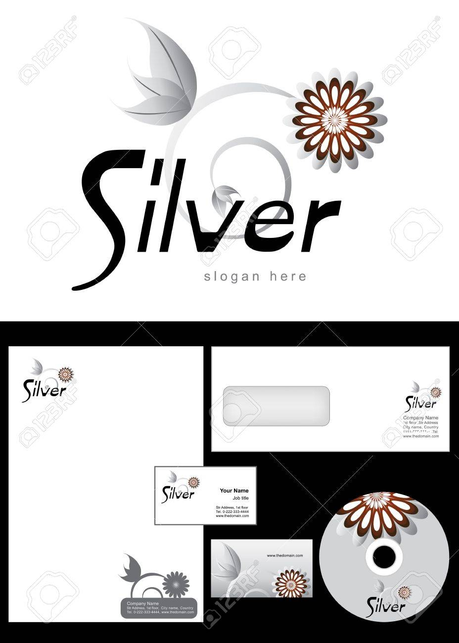 Silver logo design and corporate identity package including logo silver logo design and corporate identity package including logo letterhead business card envelope reheart Choice Image