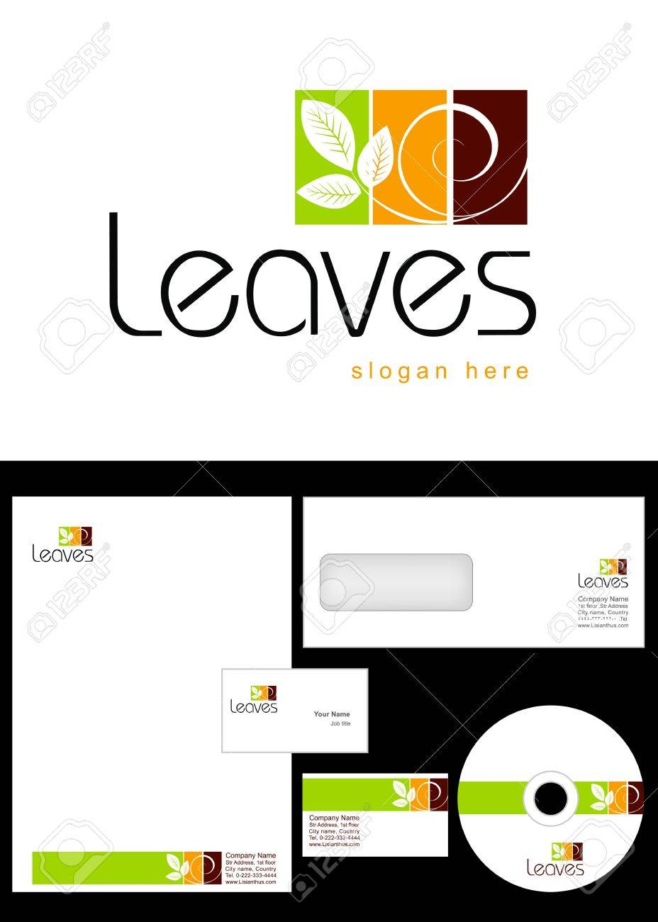Leaves Logo Design And Corporate Identity Package Including Logo ...