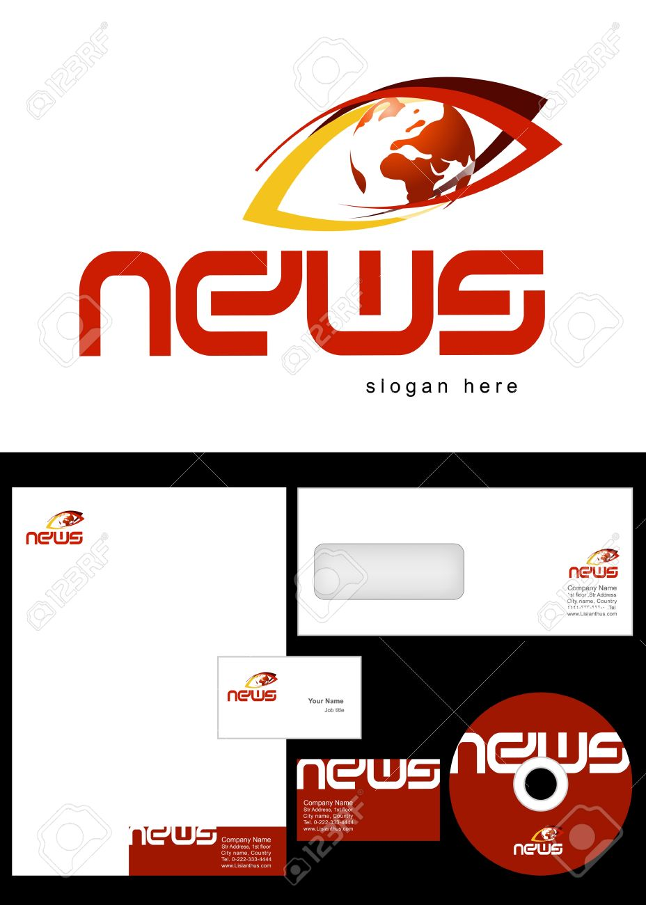 News blog logo design and corporate identity package including news blog logo design and corporate identity package including logo letterhead business card reheart