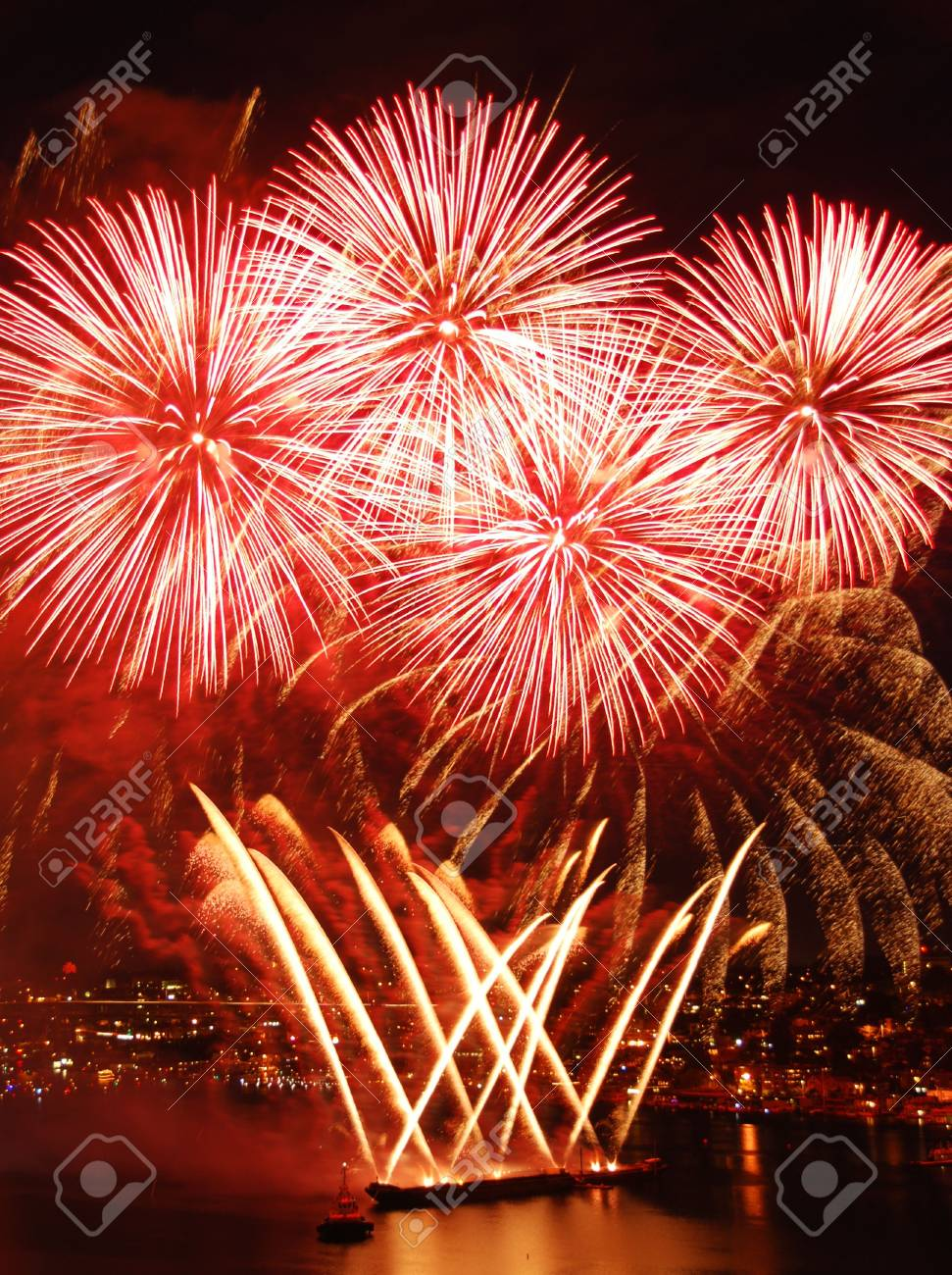 Fireworks on the Forth of July Stock Photo - 5810256