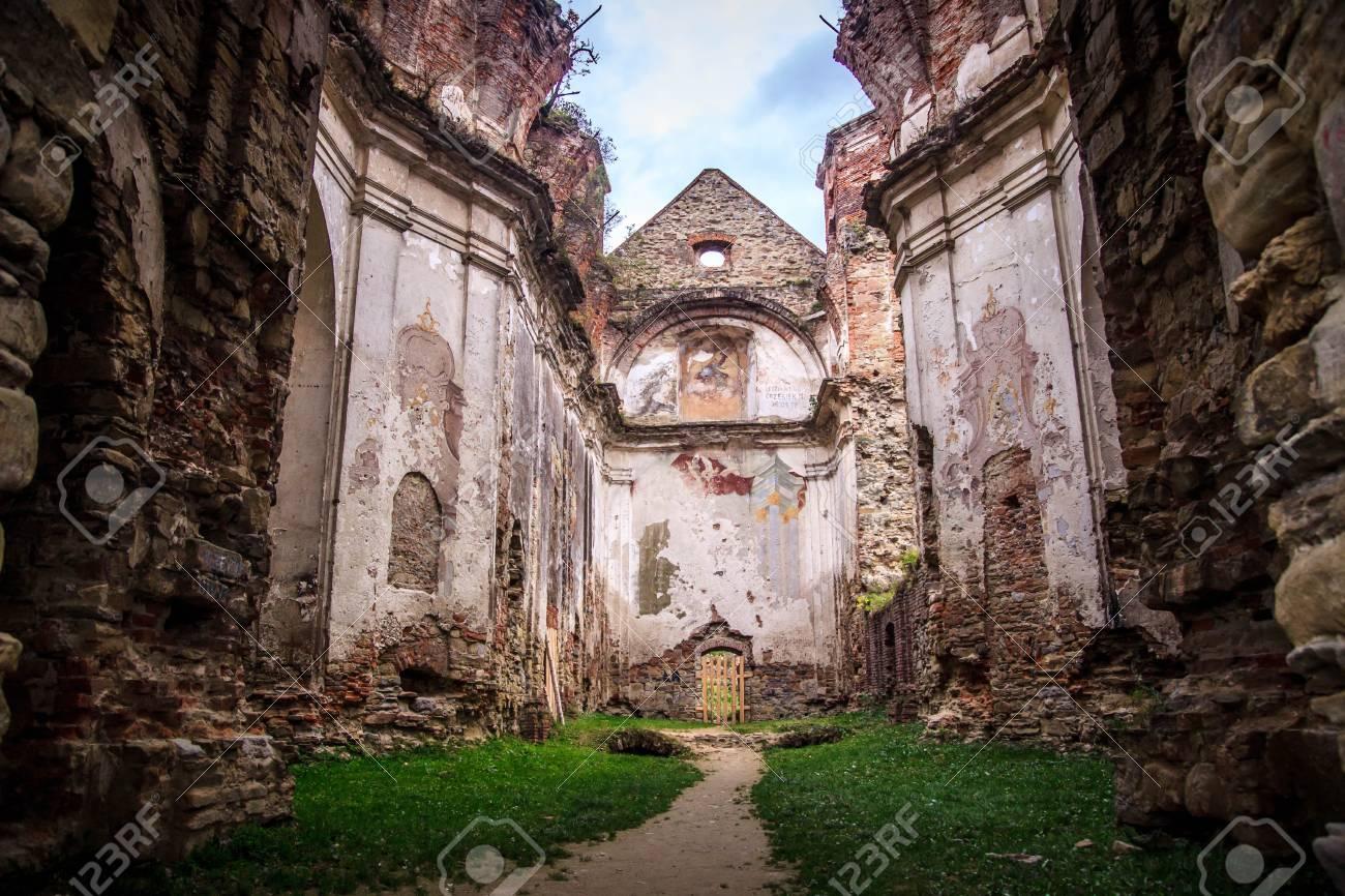 Discalced Carmelites monastery ruins in Bieszczady