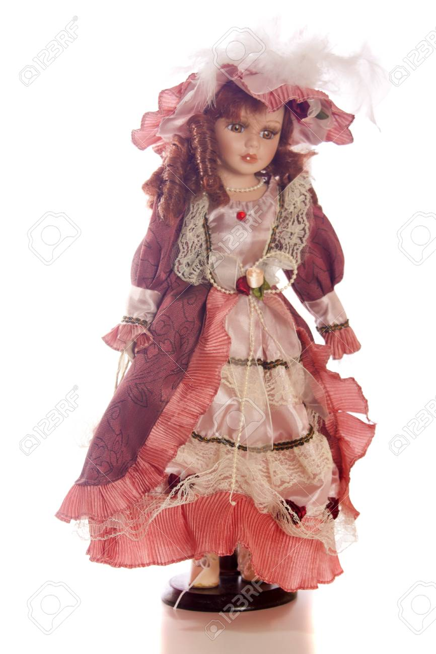 Shot of a vintage doll isolated over white background Stock Photo - 9220672