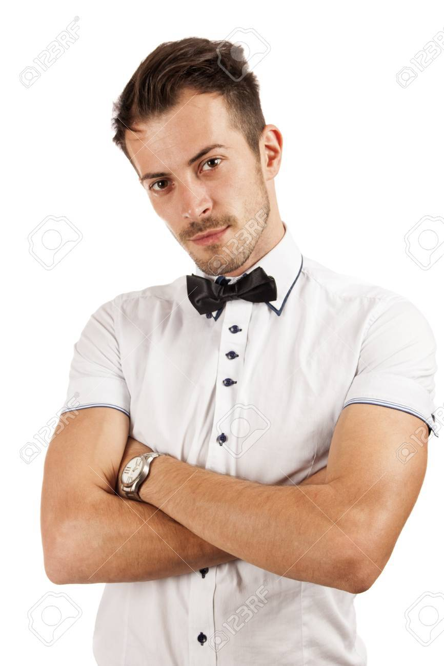 Miraculous Attractive Young Man With A Beard Isolated Over White Background Short Hairstyles Gunalazisus