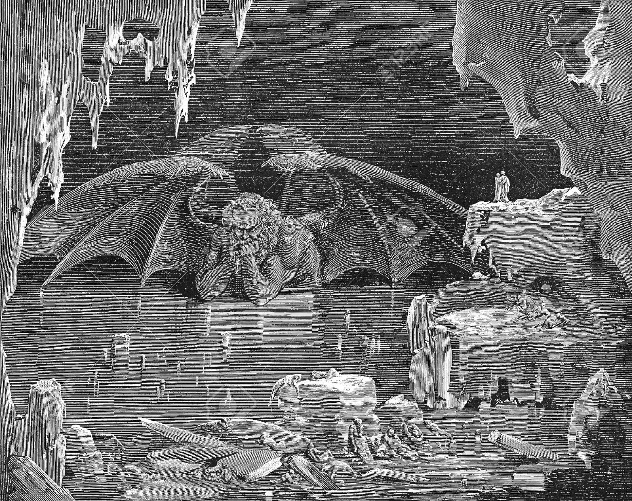 Inferno Satan-Picture Is From The Vision Of Hell By Dante ...