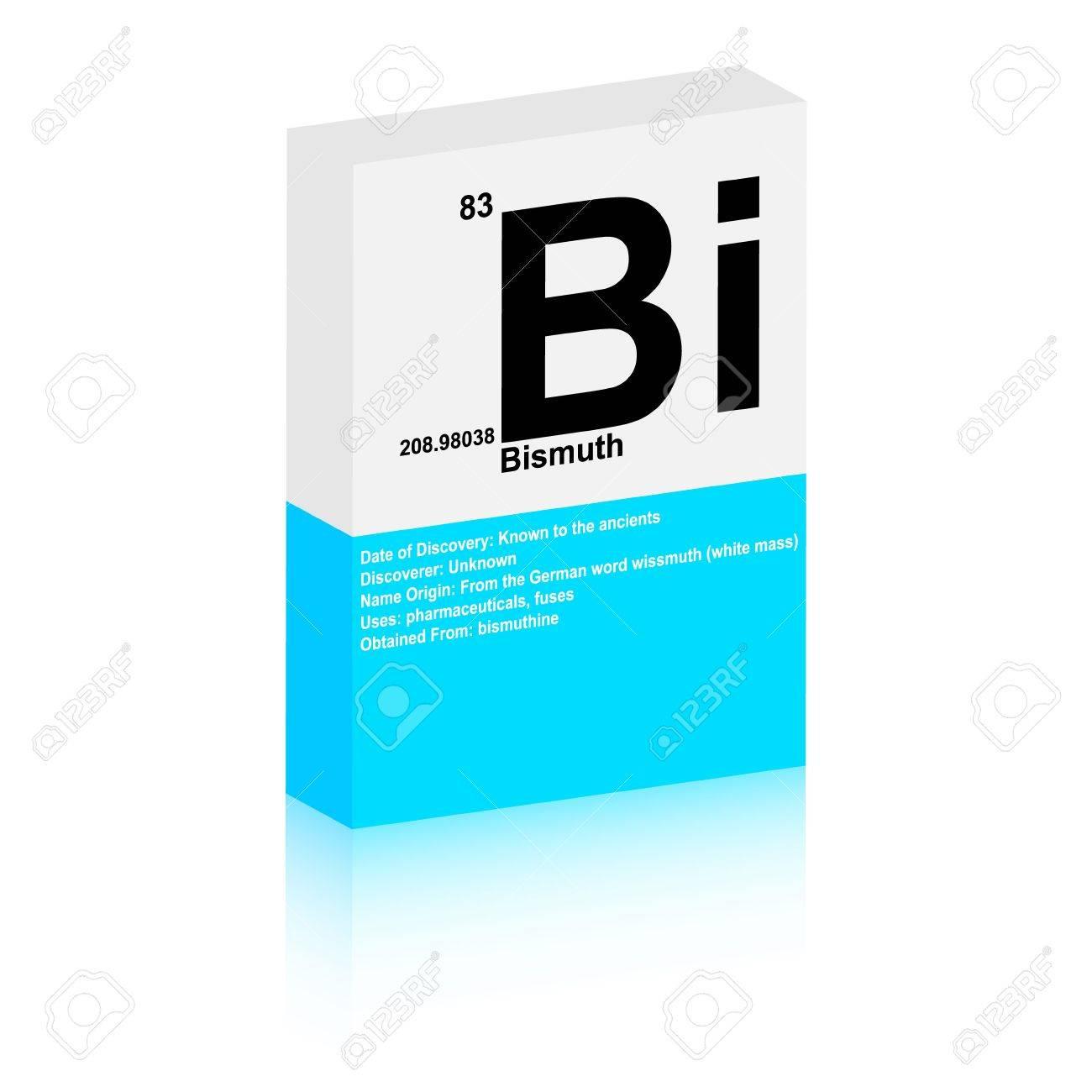 bismuth symbol Stock Vector - 13345226