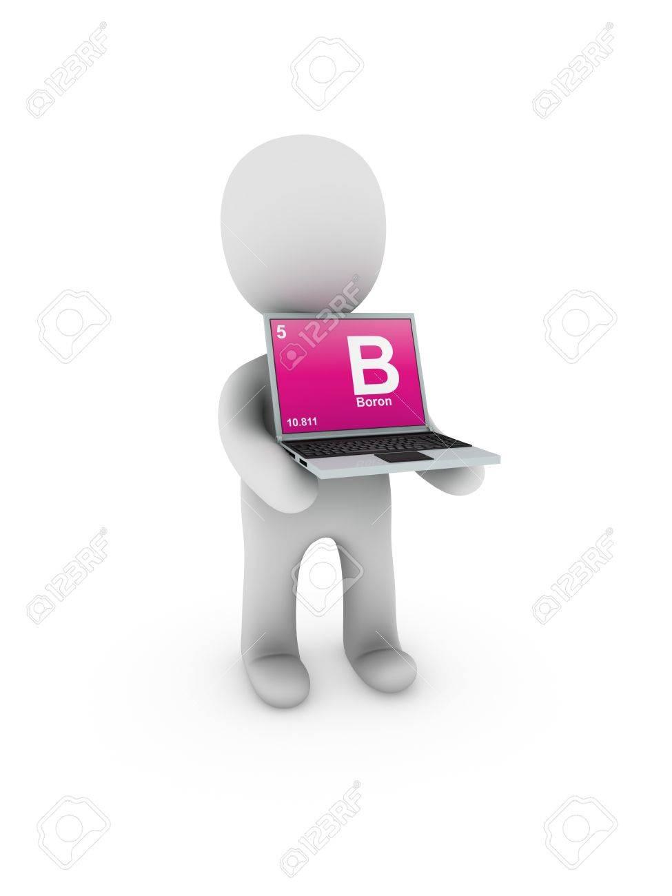 boron symbol on screen laptop Stock Photo - 13538426