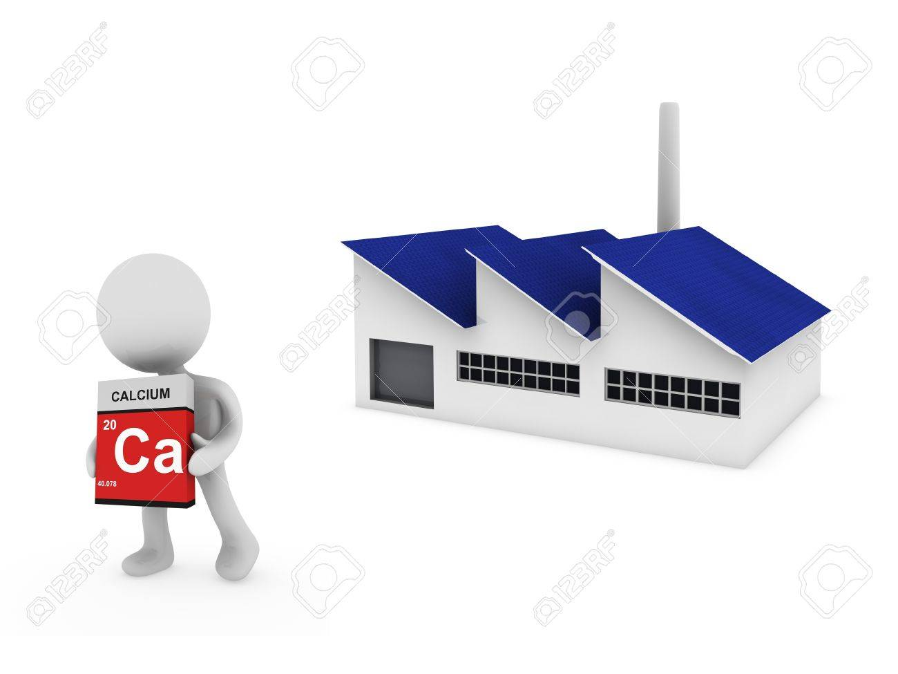 calcium factory Stock Photo - 18458693