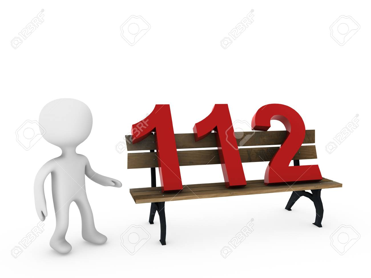 112 on bench Stock Photo - 18458695