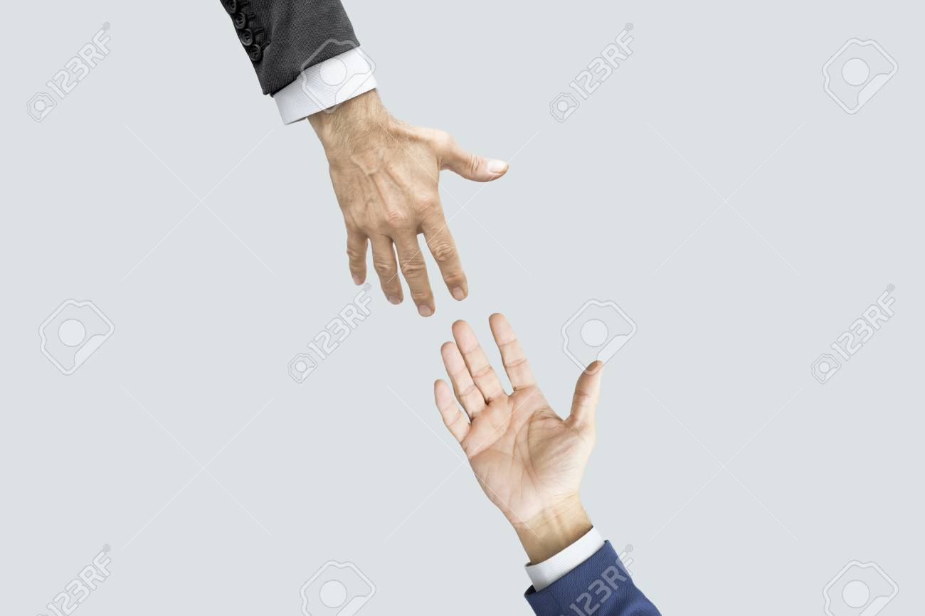Hands reaching each other - 84577979