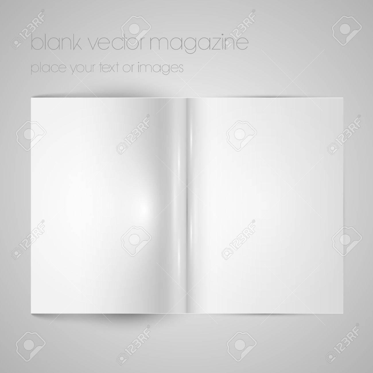 Blank magazine paper Stock Vector - 17547648