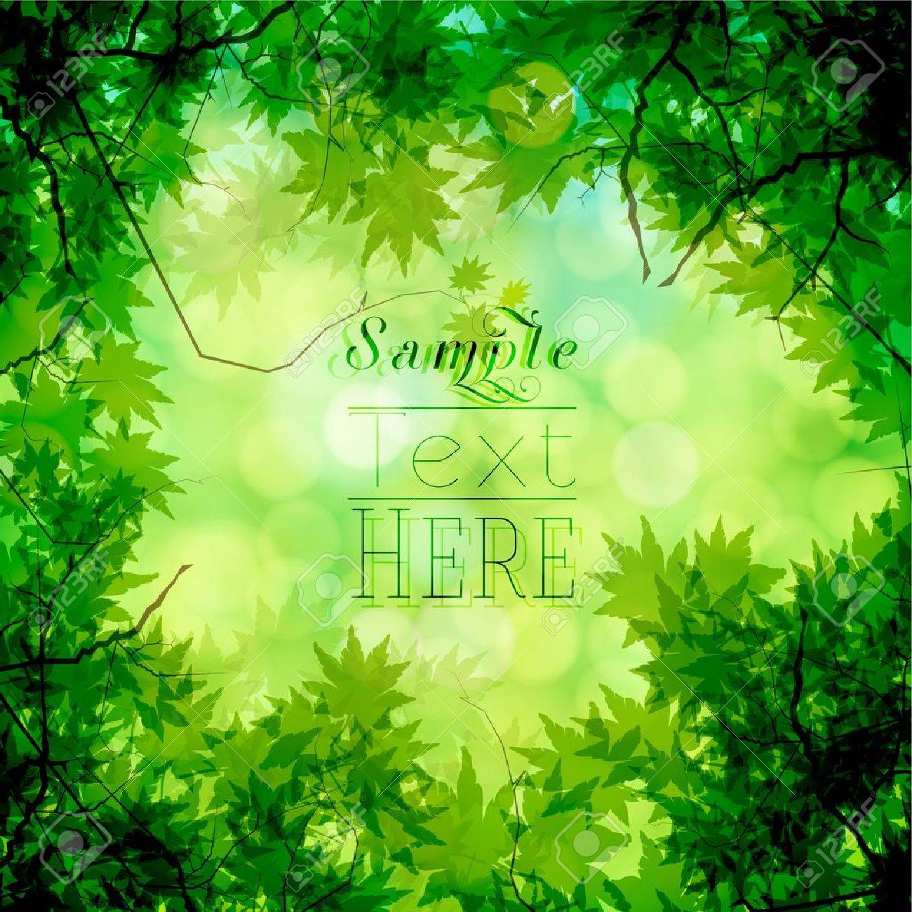 Green trees and bokeh background Stock Vector - 17527282