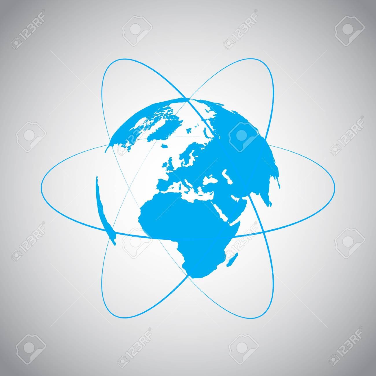 Internet and World symbol Stock Vector - 17529257