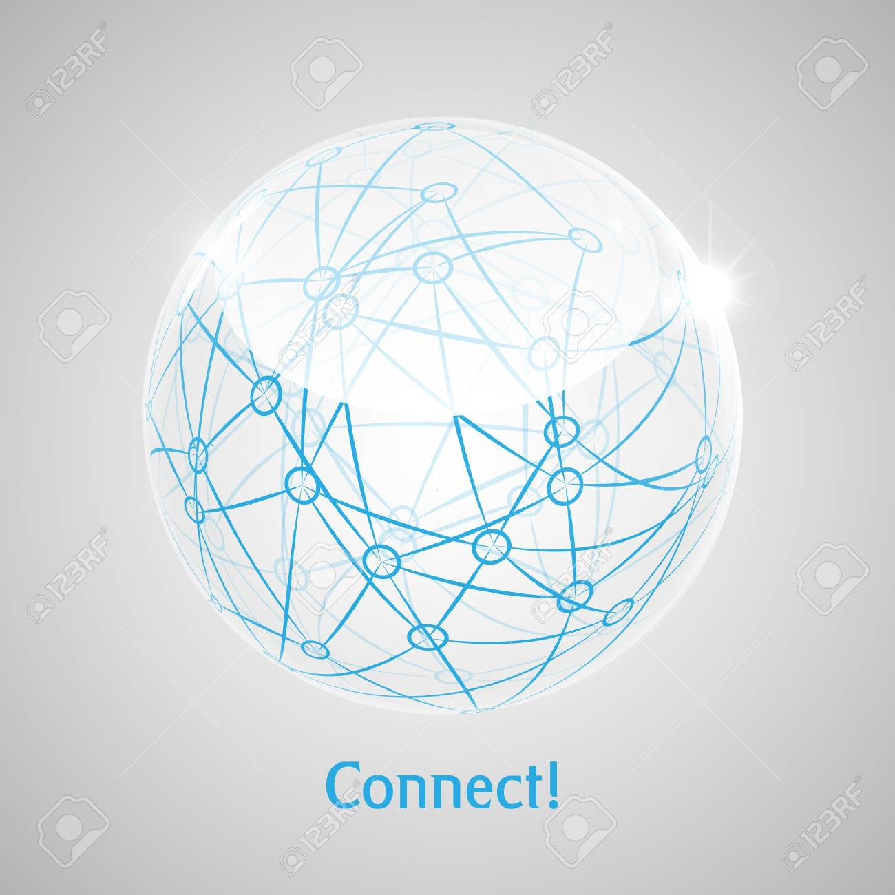 Connect World abstract concept art Stock Vector - 17548080