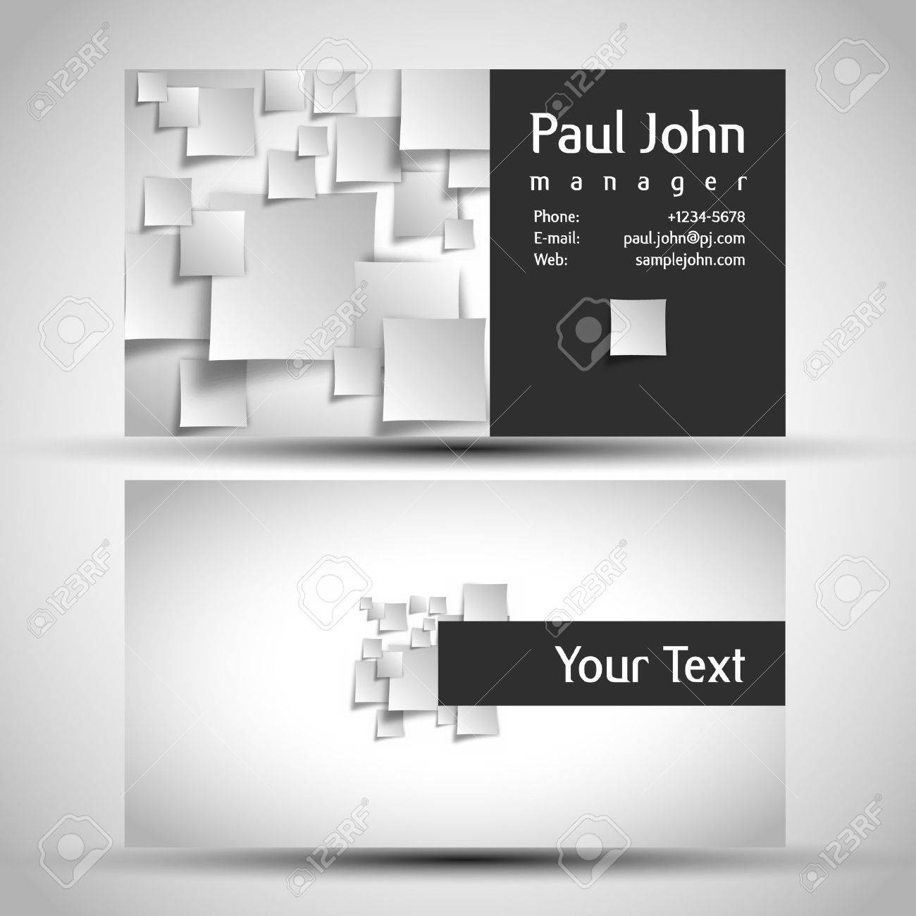 business-card front and back Stock Vector - 17529304