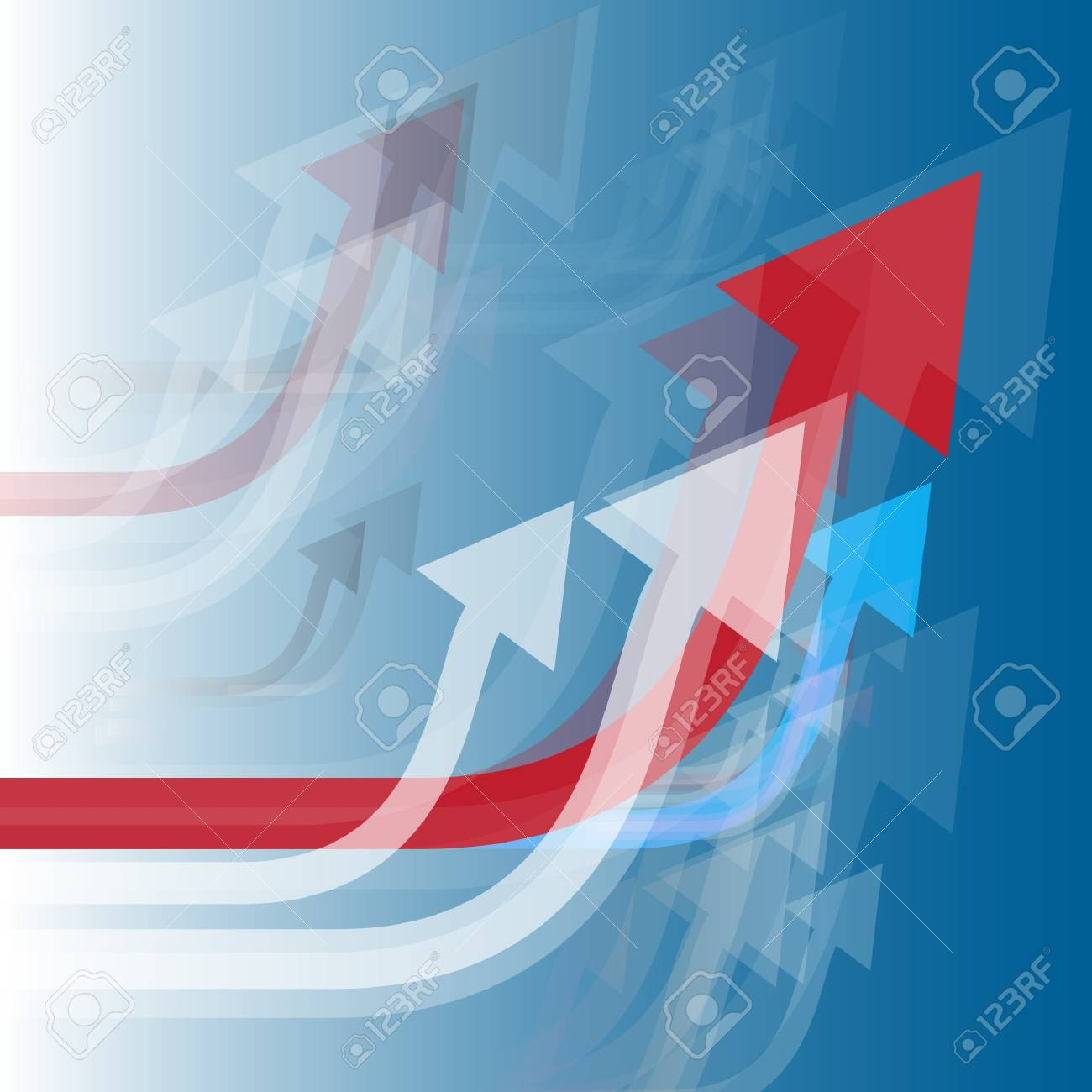 Abstract arrows going up Stock Vector - 17617931