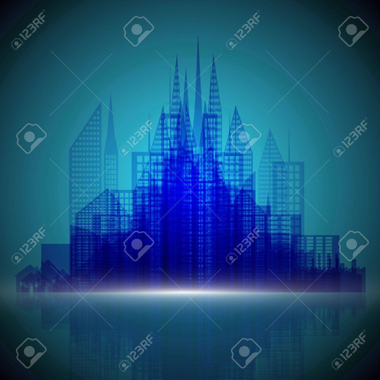 Abstract architecture background Stock Vector - 17617935