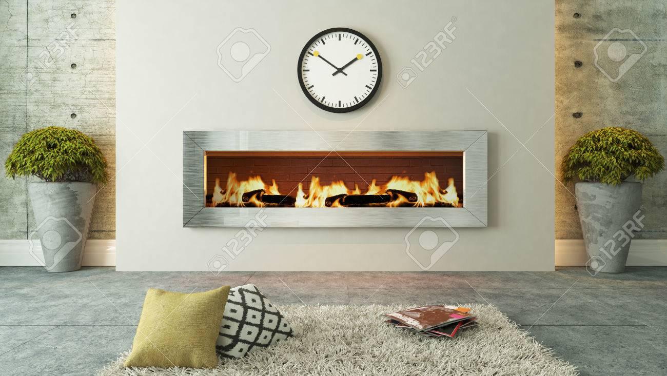 Mit Kamin 3d Design Wohnzimmer Und Rendering Fur Ihr Projekt Von